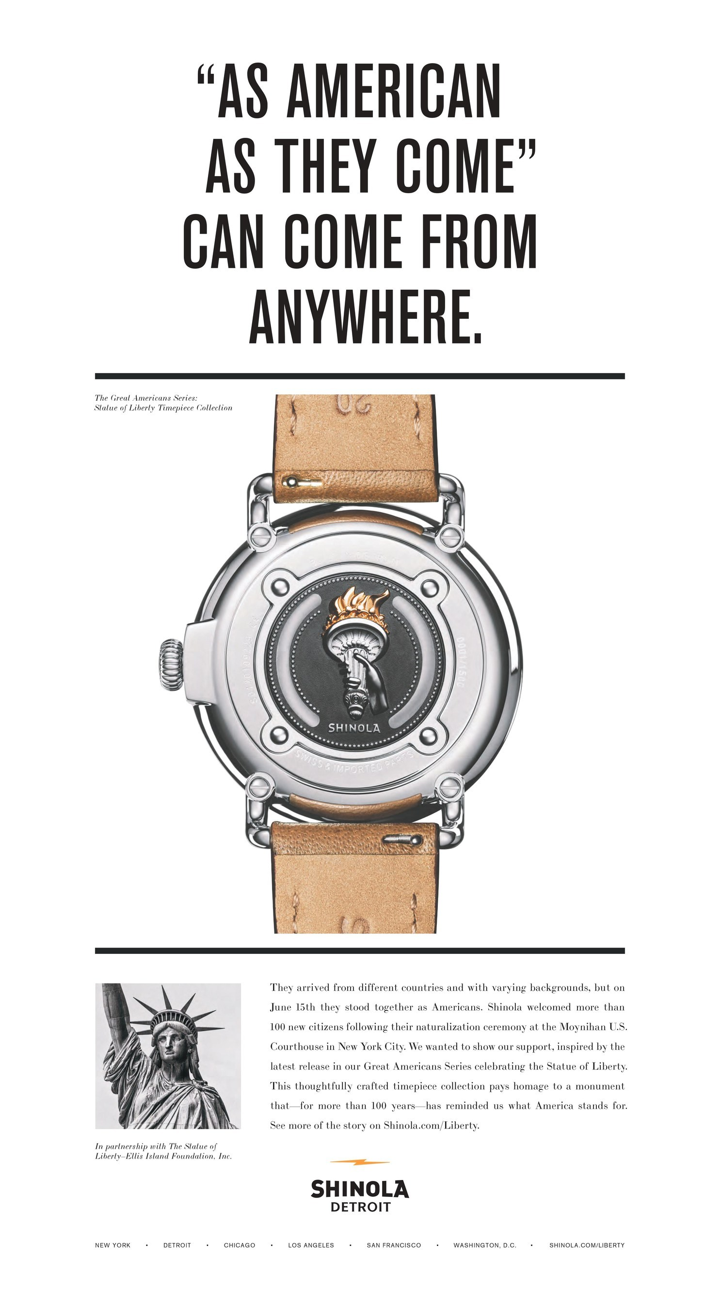 Shinola in Detroit Introduces Limited-edition Statue of