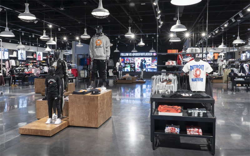 397c2e6584c465 Foot Locker has opened its first U.S. Power Store on Eight Mile Road in  Eastpointe.    Photograph Courtesy of Foot Locker
