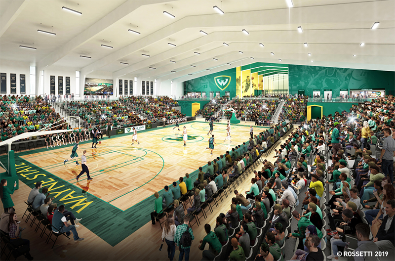 Wayne State University basketball arena rendering
