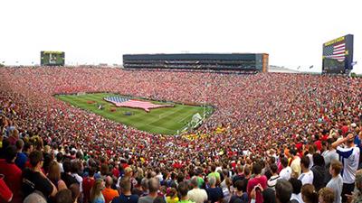 Soccer game at Michigan Stadium