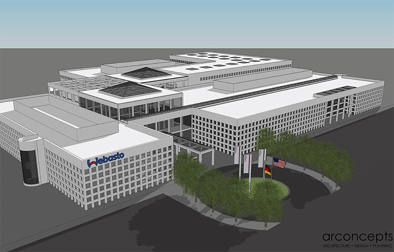 Webasto headquarters rendering