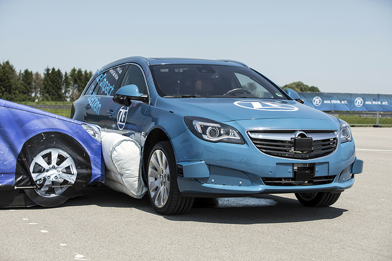 car equipped with ZF's external side airbag