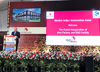 Jay Craig and Meritor's new facility in India