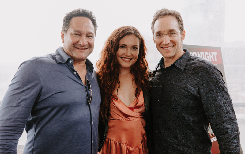 Jeff and Rich Sloan with Kylie Morgan