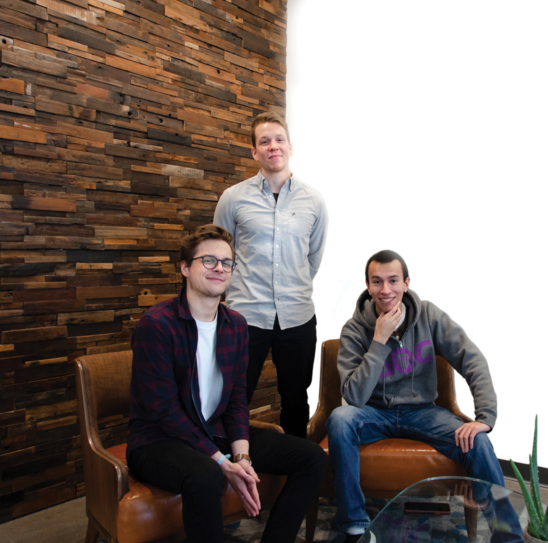 Mick Brege, creative director; Mars Ashton, project manager; and Steven Zavala, senior front end developer
