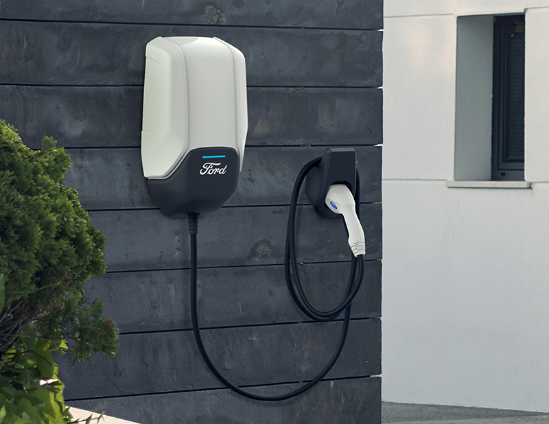 Ford electric vehicle charging station