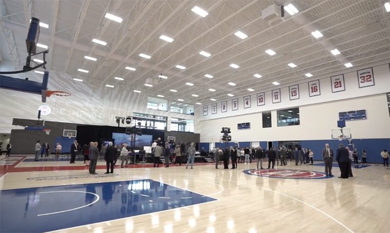 Henry Ford Detroit Pistons Performance Center interior