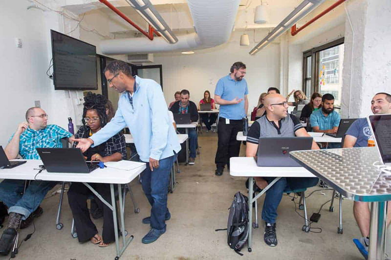 Students in Grand Circus Coding Bootcamp class