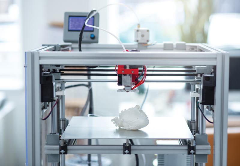heart model made on 3-D printer