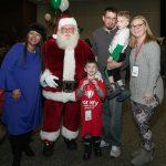 Bishop Cheryl Myhand, Santa, Joshua Watkins, Dennis Watkins, August Watkins, Rebecca Watkins