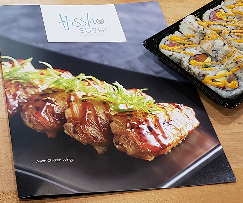 Hissho Sushi and Craft Beer Bar sushi and menu