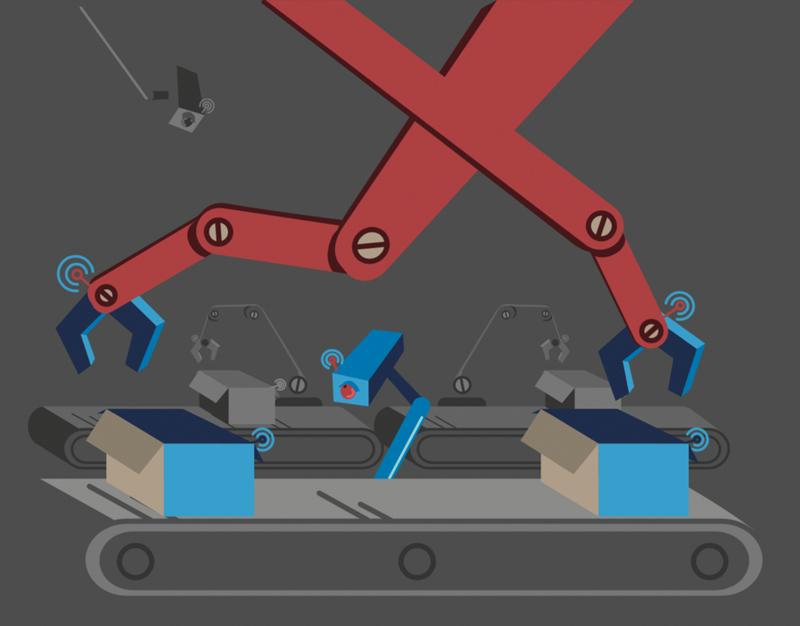 automated conveyer illustration
