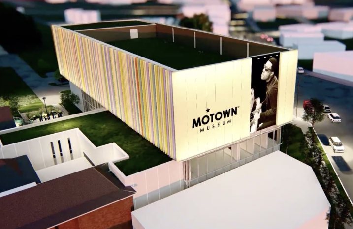 Motown Museum flyover video image