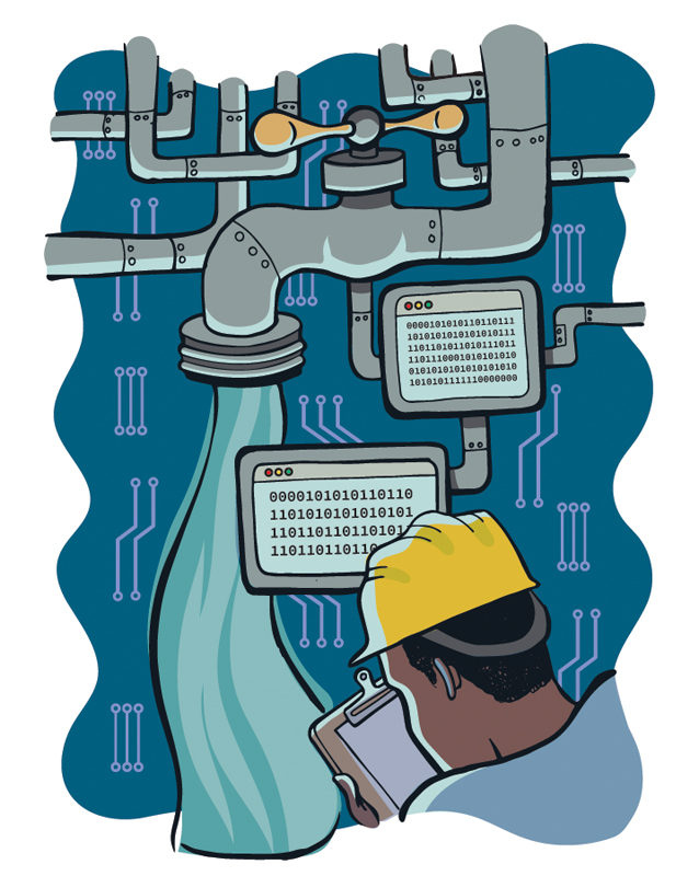 water monitoring illustration