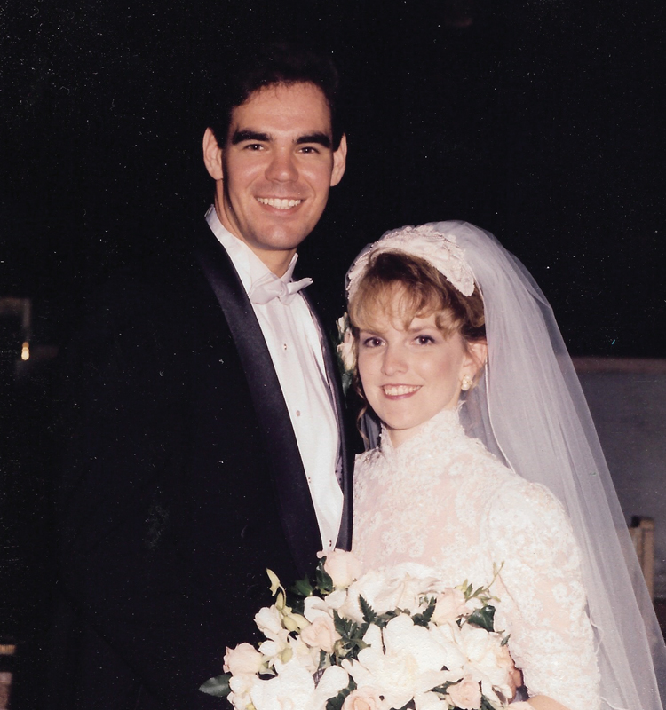 Michael and Anne at their wedding
