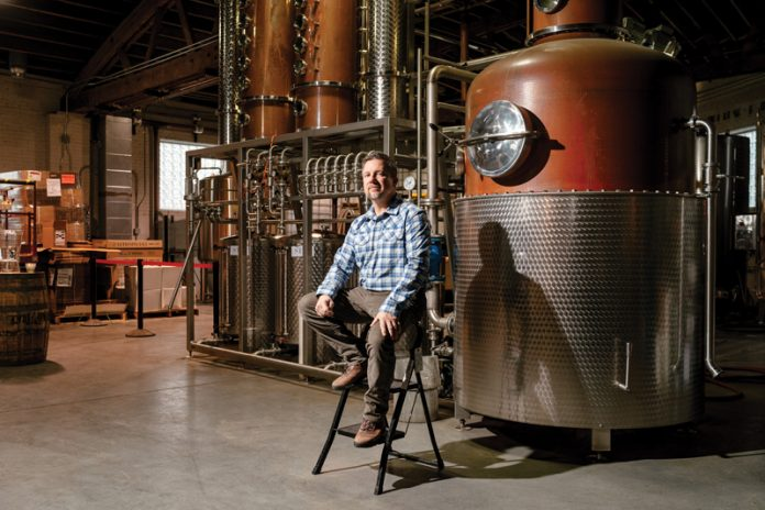 Rob Cleveland at Ann Arbor Distilling Co.