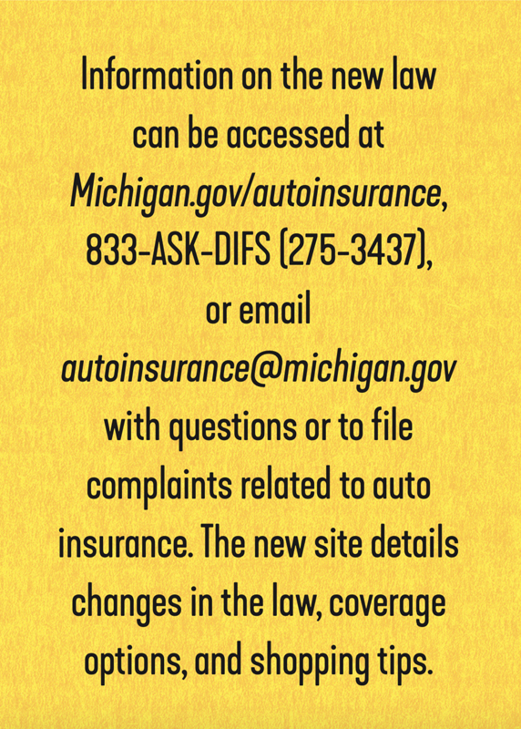 Michigan auto insurance resources