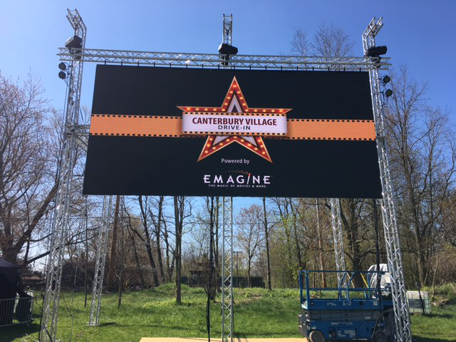 Canterbury Village Drive-In Powered by Emagine movie screen